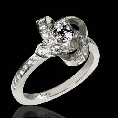 Bague diamant noir Chloe