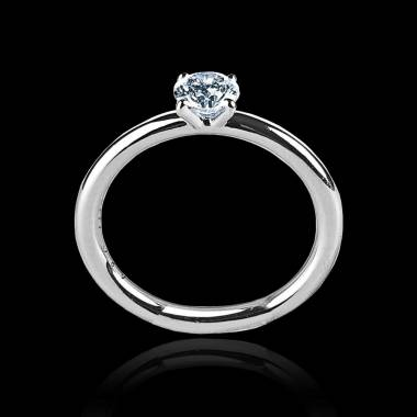 Solitaire diamant or blanc Anja