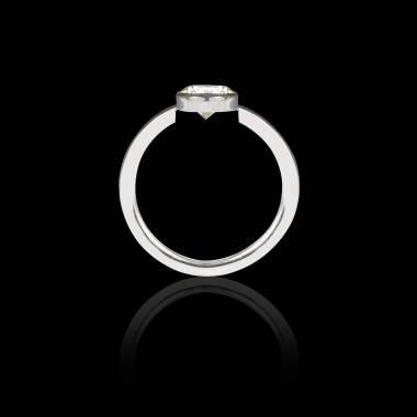 Solitaire diamant or blanc Cristina