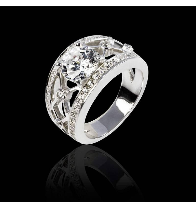 Bague diamant forme rond Régina Suprema