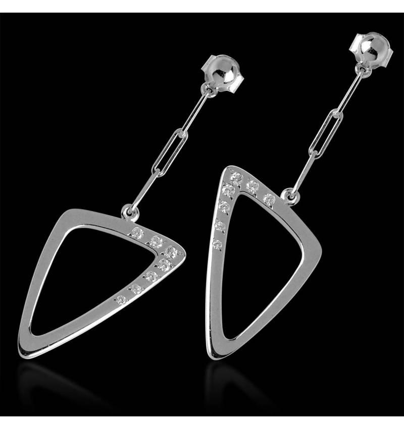 Boucles d'oreilles diamant Triangle