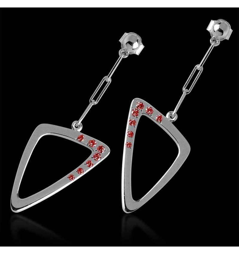 Boucles d'oreilles rubis Triangle
