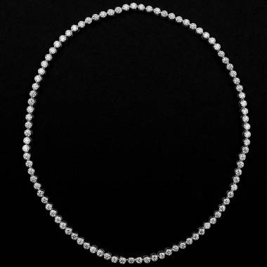 Collier diamant or blanc Perle de diamants