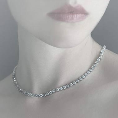 Collier diamant or blanc Perle de diamants