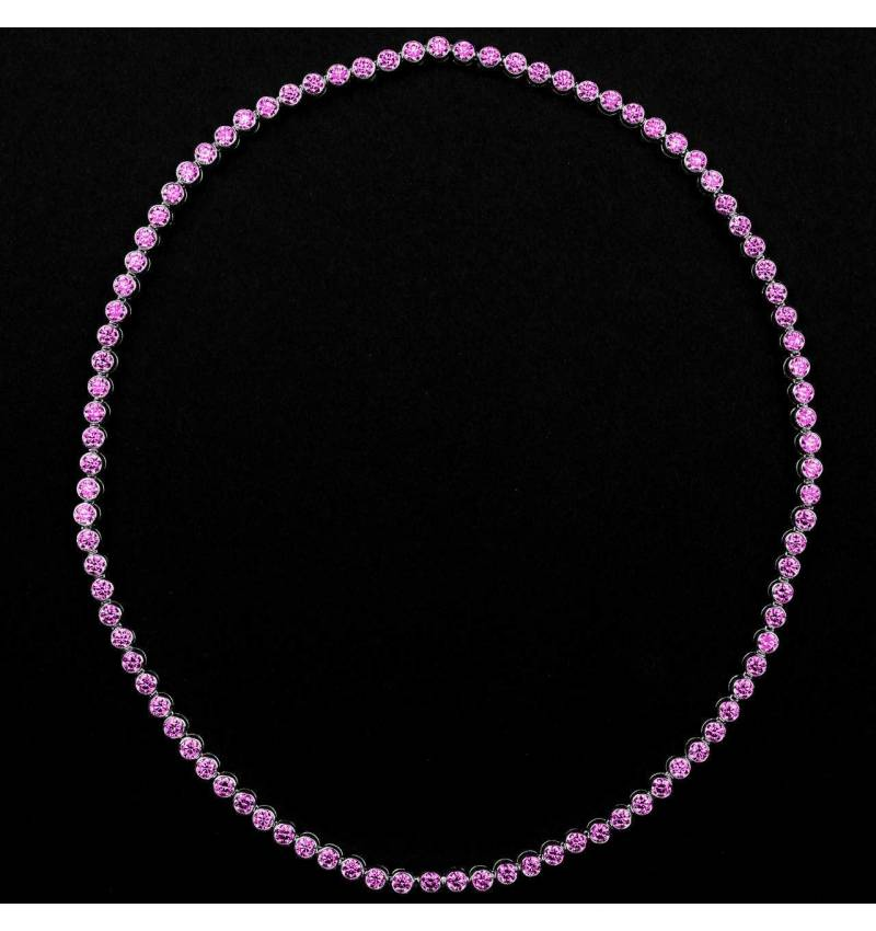 Collier saphir rose Perle de diamants