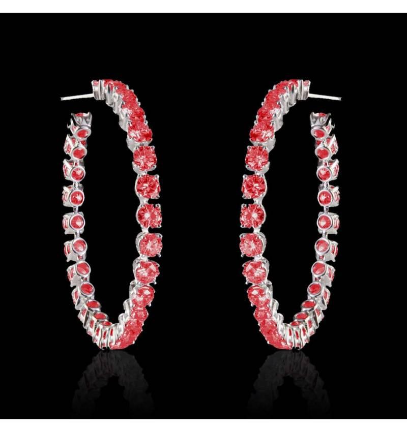 Boucles d'oreilles rubis Créoles