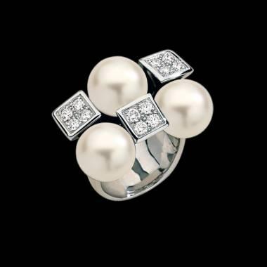 Bague perle blanche Archipel
