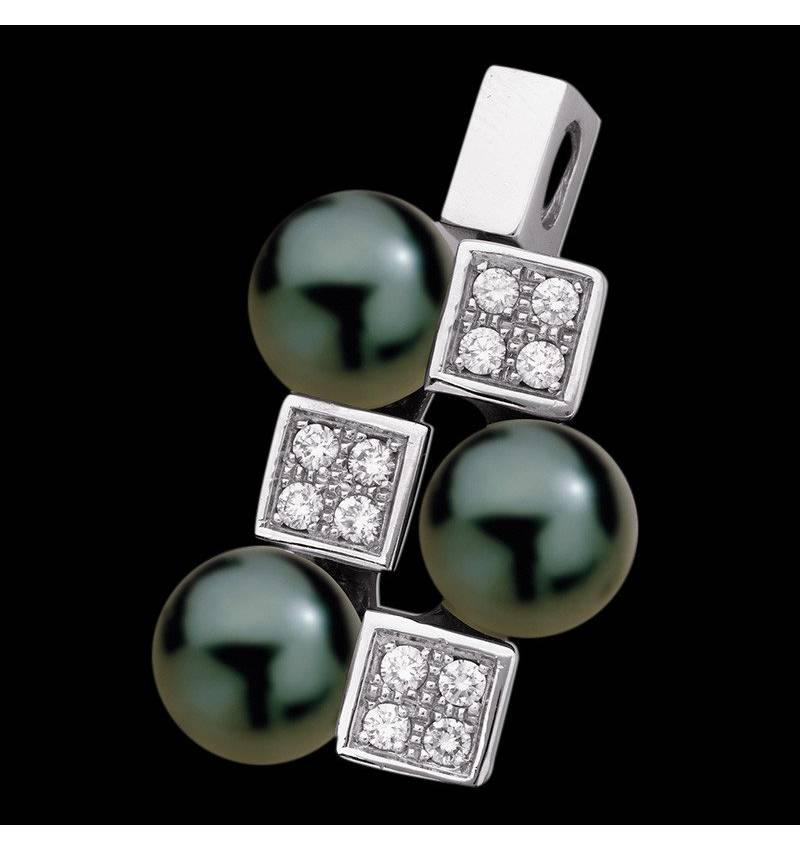 Pendentif perle noire Archipel