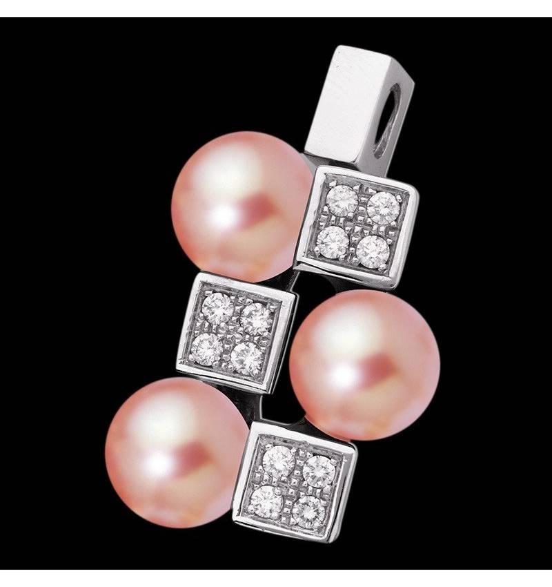 Pendentif perle rose Archipel
