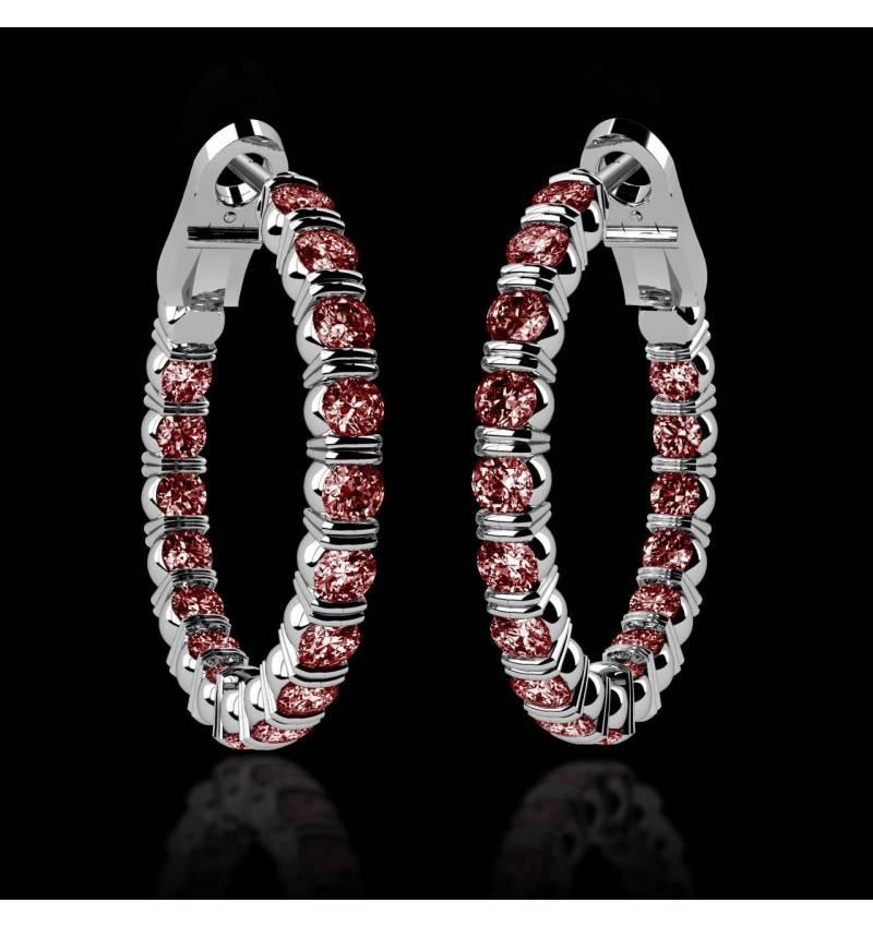 Boucles d'oreilles rubis Créoles Inside