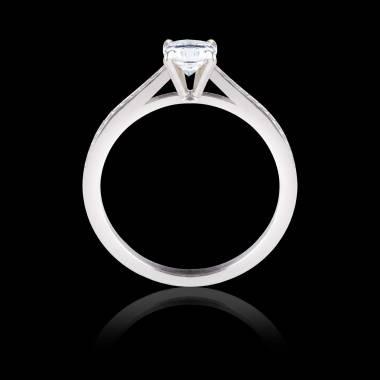 Solitaire diamant pavage diamant or blanc Elodie