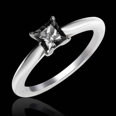 Solitaire diamant noir or blanc My Love
