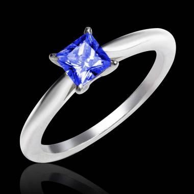 Bague de fiançailles saphir bleu or blanc My Love