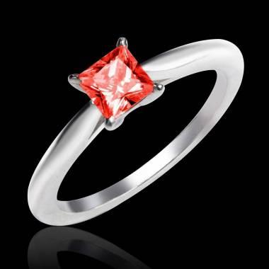 Bague de fiançailles rubis or blanc My Love