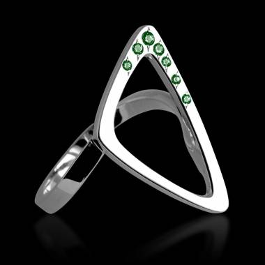 Bague Emeraude Triangle