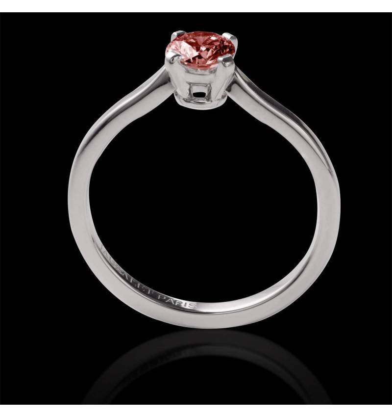Solitaire rubis rond or blanc Vanessa solo