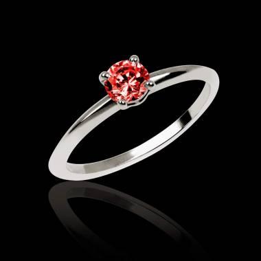 Bague de fiançailles rubis or blanc Valentina