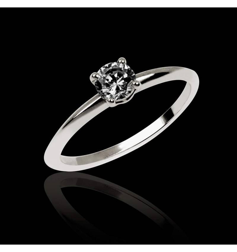 718421f5f1e Bague de fiançailles diamant noir Valentina - Maison Jaubalet