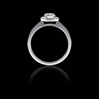 Bague de fiançailles diamant pavage diamant or blanc Rekha Solo