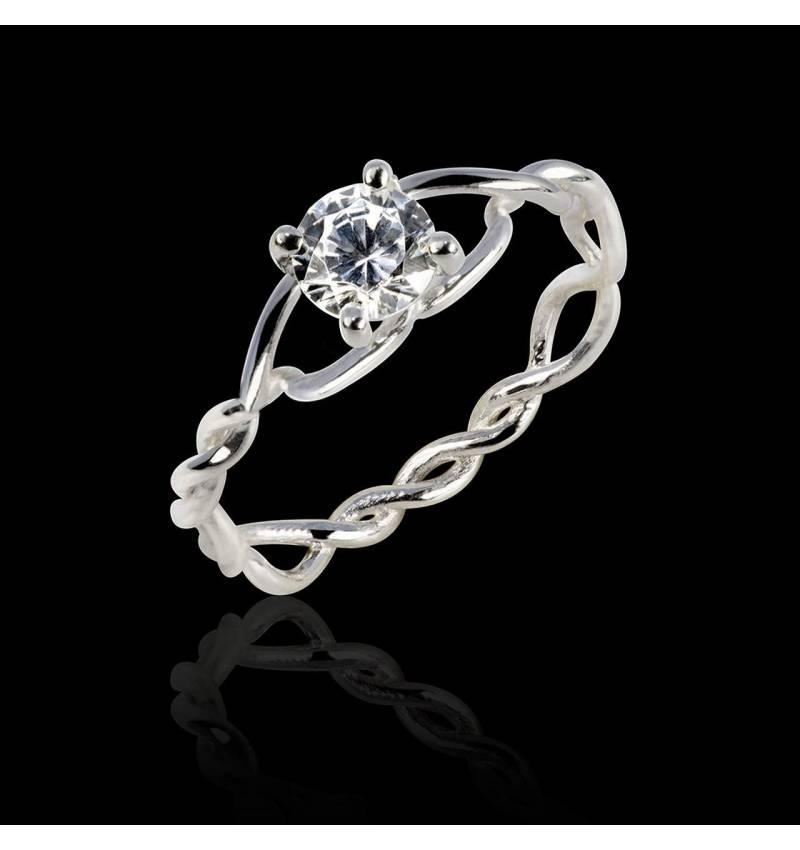 Bague diamant Entrelassée