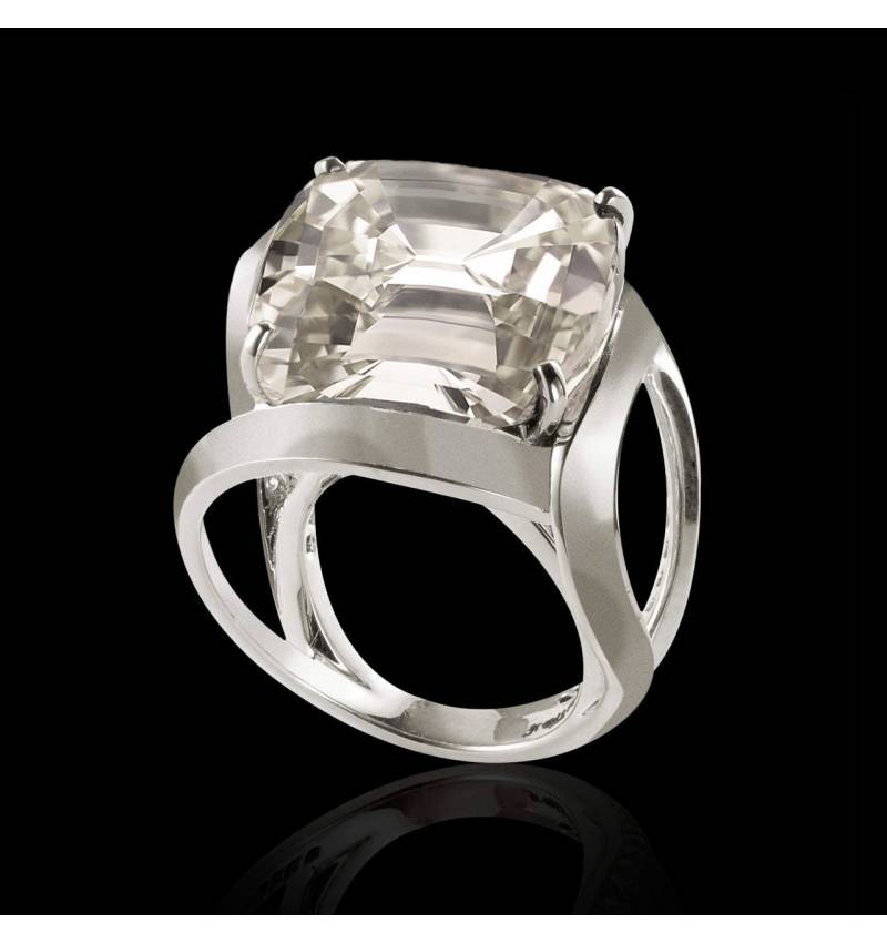 Solitaire diamant or blanc Future Solo