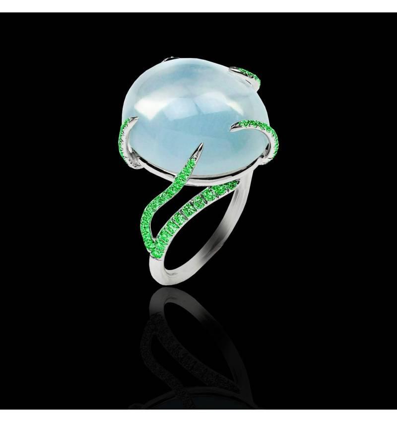 Bague diamant Pierre de Lune