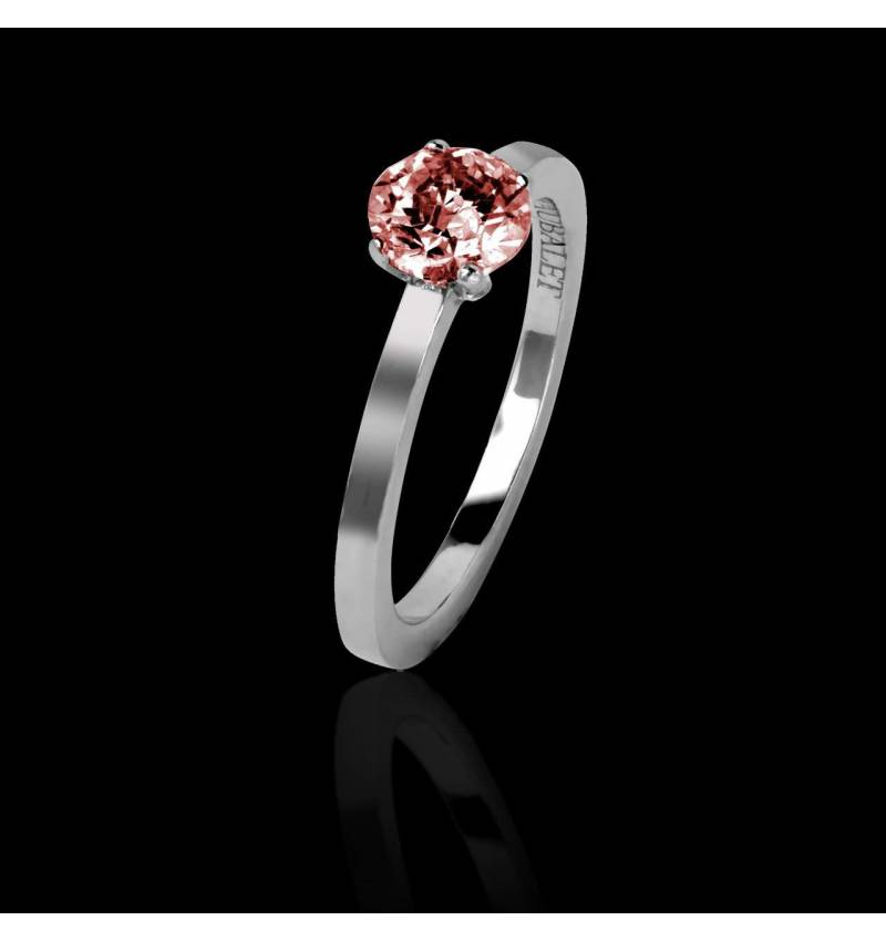 Solitaire rubis or blanc Judith Solo