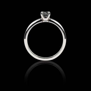 Solitaire diamant noir or blanc Valentina