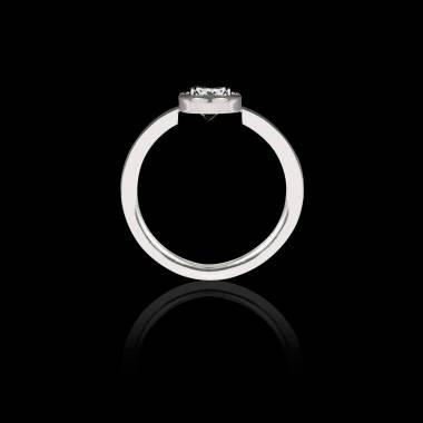 Solitaire diamant noir or blanc Cristina