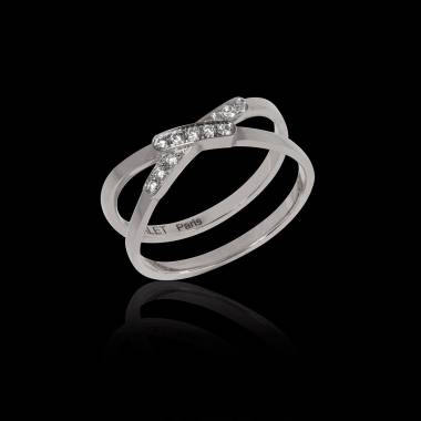 Bague de fiançailles diamant 0,5 carat or blanc Tifène