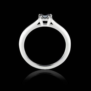 Solitaire diamant noir or blanc My Love