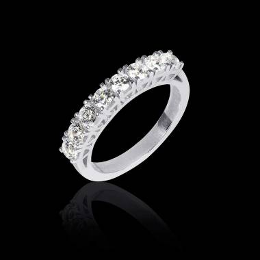 Alliance de mariage pavage diamant 0,7 carat or blanc Ceres