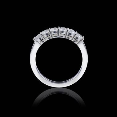 Alliance pavage diamant 0,5 carat or blanc Cassiopa