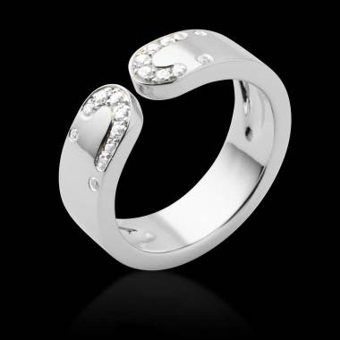 Bague de fiançailles diamant or blanc Séductrice