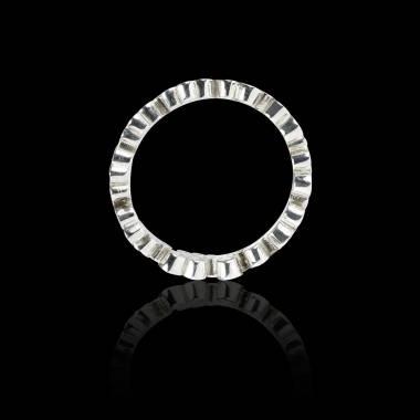 Alliance pavage diamant 0,7 carat platine Neptune