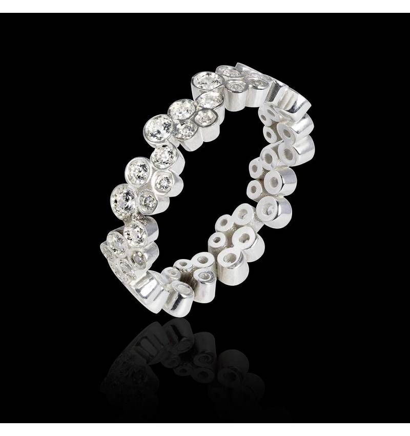 Bague de fiançailles diamant 0,5 carat or blanc Neptune