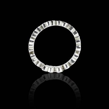 Bague Solitaire diamant noir 0,6 carat or blanc Neptune