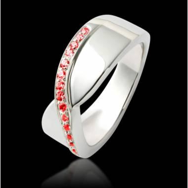 Bague de fiançailles rubis or blanc Eternelle