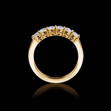 Alliance pavage diamant 0,6 carat or jaune Cassiopa