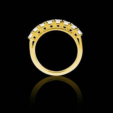 Alliance pavage diamant 0,6 carat or jaune Ceres