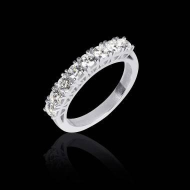 Alliance de mariage pavage diamant 0,7 carat platine Ceres