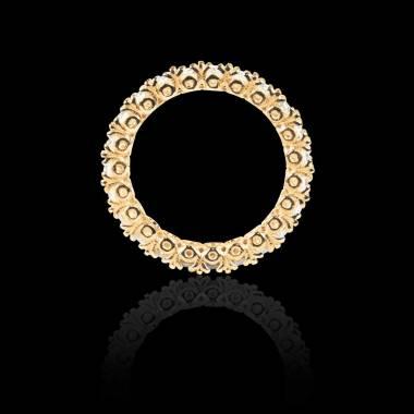 Alliance pavage diamant 0,6 carat or jaune Jupiter