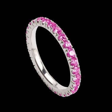 Alliance de mariage pavage diamant 0,5 carat or blanc Eve