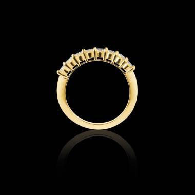 Alliance diamant 0,6 carat or jaune Mercure