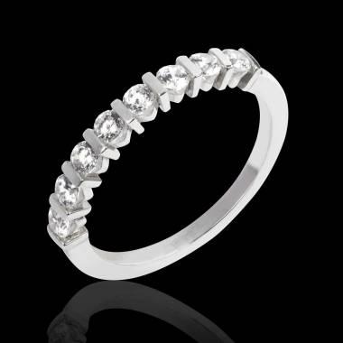 Alliance de mariage pavage diamant 0,5 carat or blanc Xena