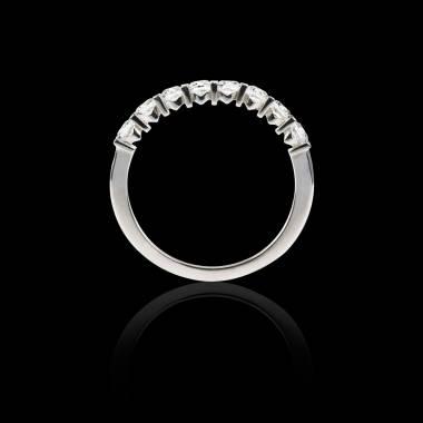 Alliance pavage diamant 0,5 carat or blanc Xena