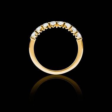 Alliance pavage diamant 0,6 carat or jaune Xena
