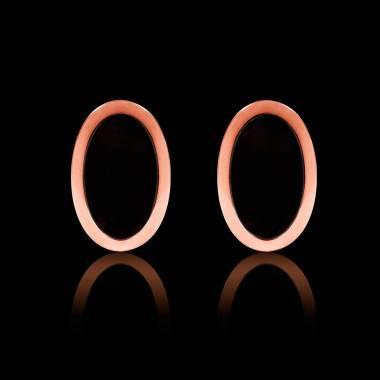 Boutons de manchettes chevalière onyx en or rose vermeil 13,4g Ovum
