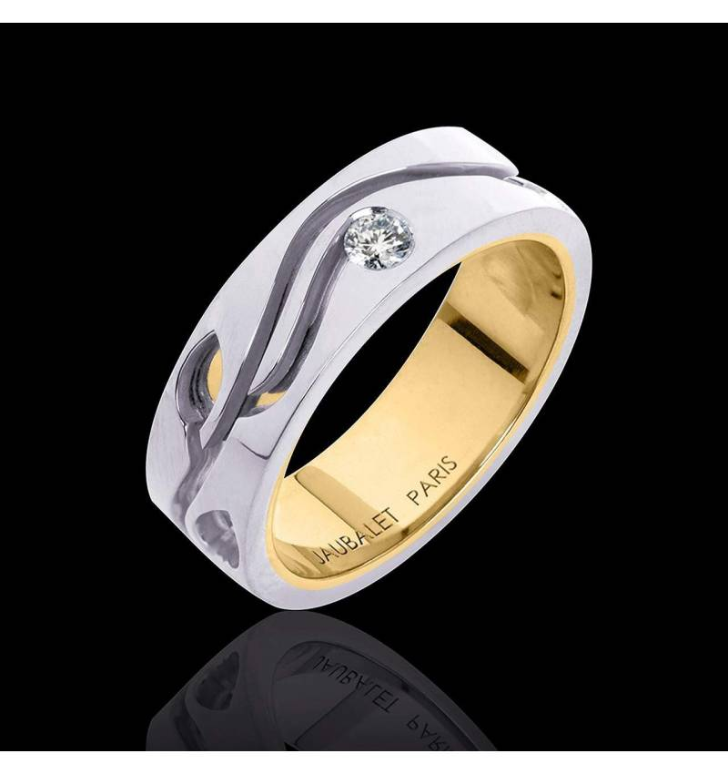 Alliance diamant or blanc Elena