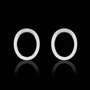 Boutons de manchettes chevalière onyx argent palladié Ovalis